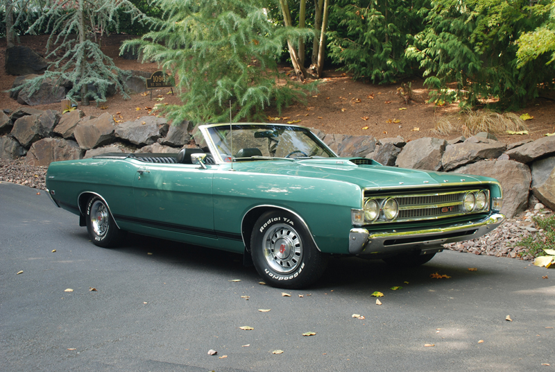 1969 FORD TORINO GT CONVERTIBLE - Side Profile - 43660