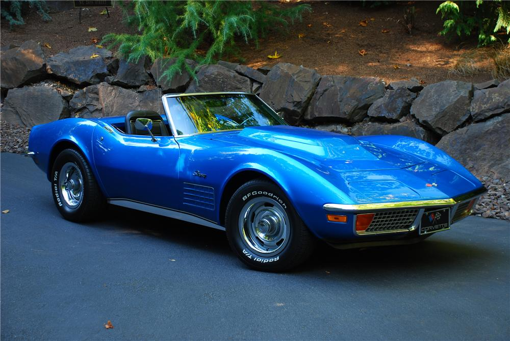 1972 CHEVROLET CORVETTE CUSTOM CONVERTIBLE - Front 3/4 - 43661
