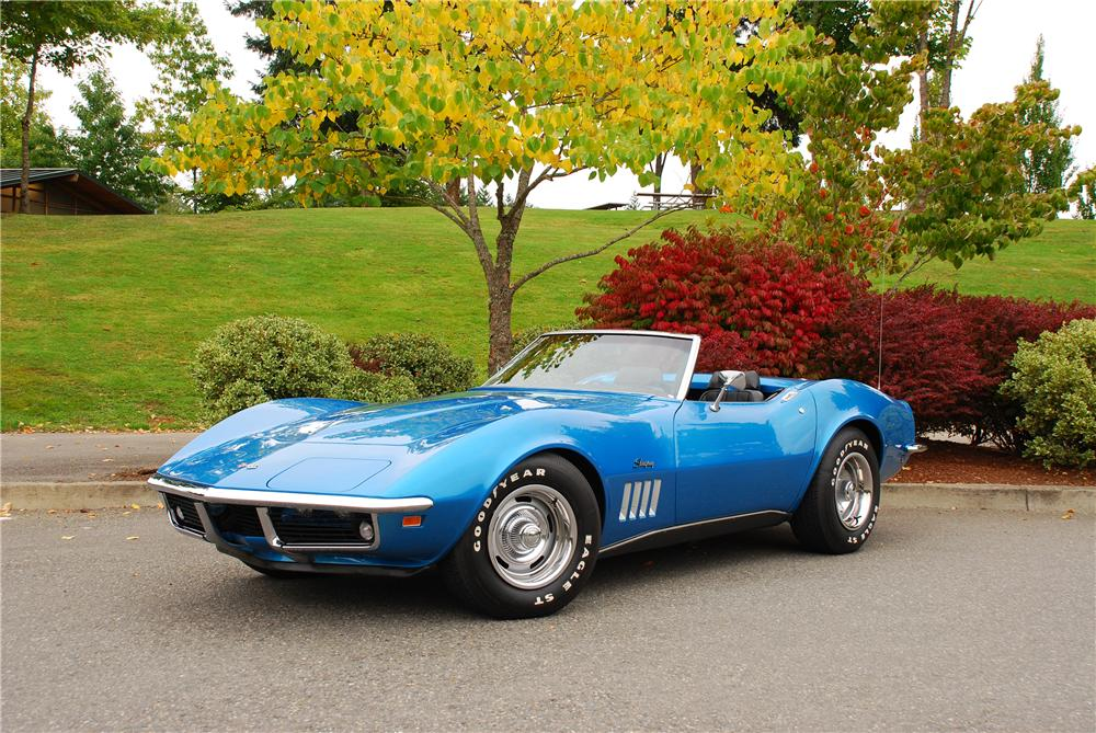 1969 blue mako shark corvette convertible autos post. Black Bedroom Furniture Sets. Home Design Ideas