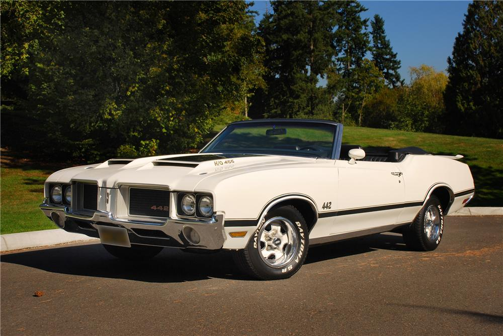 1972 OLDSMOBILE 442 CONVERTIBLE RE-CREATION - Front 3/4 - 43671