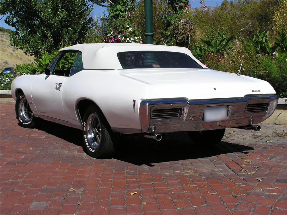 1968 PONTIAC GTO CONVERTIBLE - Rear 3/4 - 43695