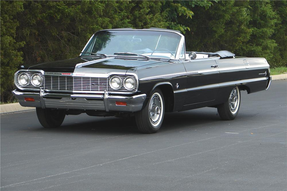 1964 CHEVROLET IMPALA SS CONVERTIBLE - Front 3/4 - 43699