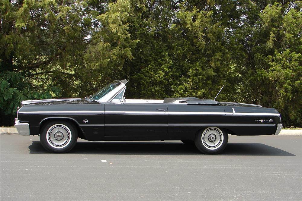 1964 CHEVROLET IMPALA SS CONVERTIBLE - Side Profile - 43699