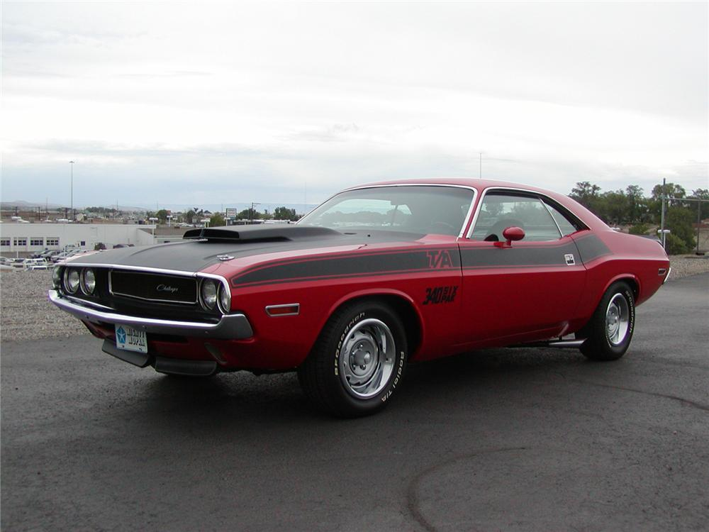 1970 DODGE CHALLENGER T/A SPORT COUPE - Front 3/4 - 43706