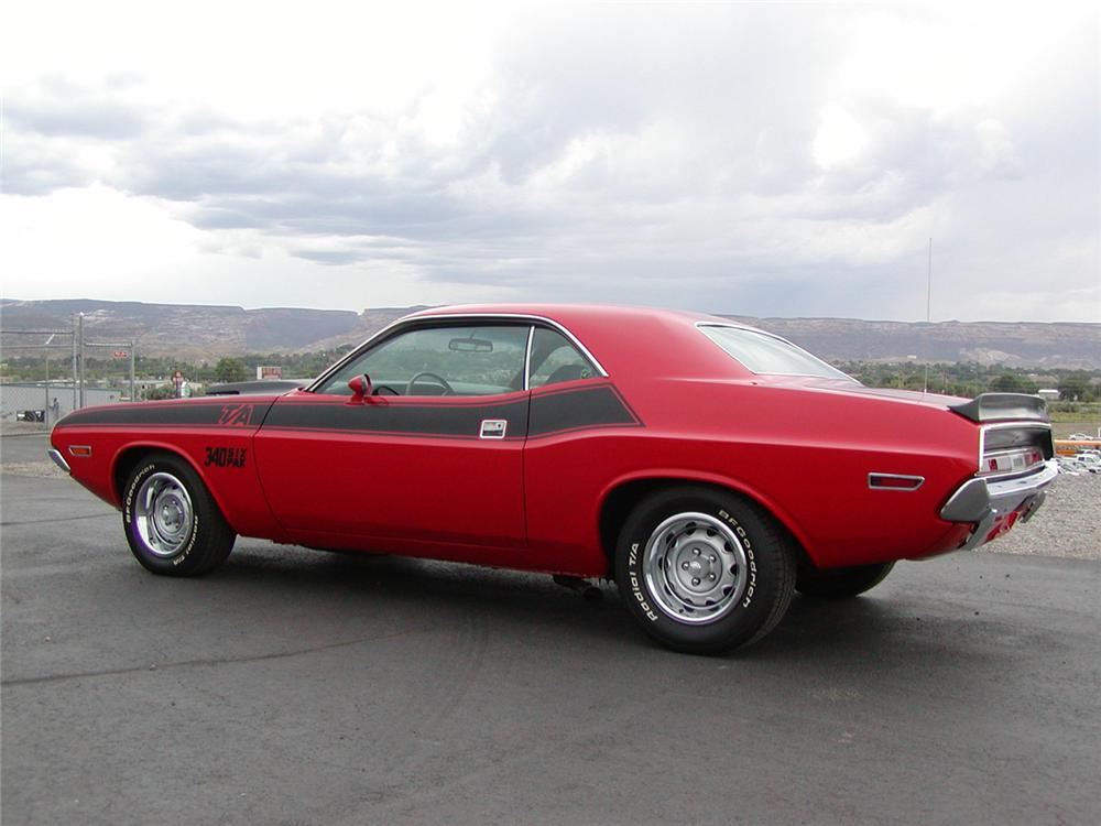1970 DODGE CHALLENGER T/A SPORT COUPE - Rear 3/4 - 43706
