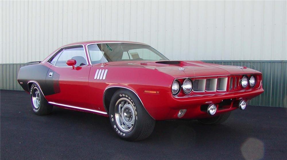 1971 PLYMOUTH CUDA SPORT COUPE - Front 3/4 - 43709