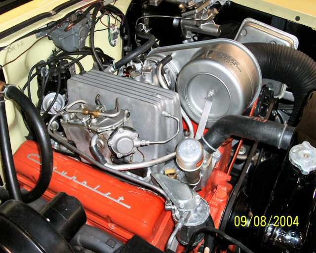 1957 CHEVROLET BEL AIR FI CONVERTIBLE - Engine - 43714