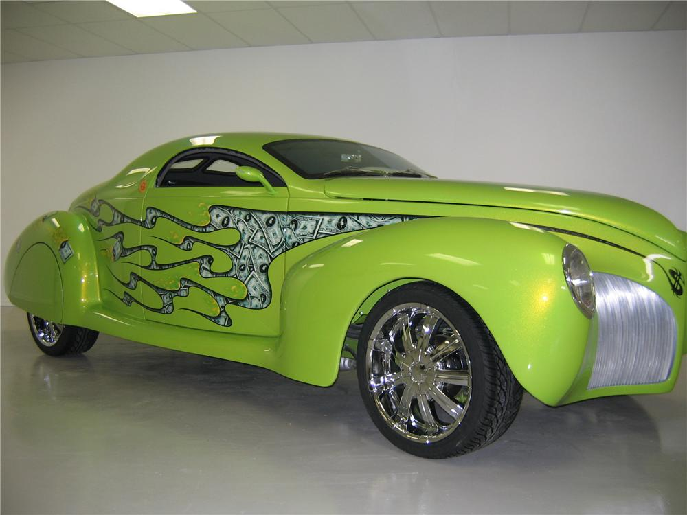1939 LINCOLN ZEPHYR CUSTOM RE-CREATION COUPE - Front 3/4 - 43720