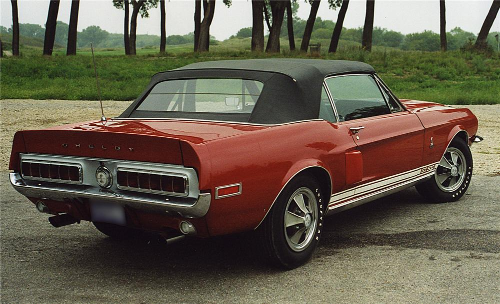 1968 SHELBY GT500 CONVERTIBLE - Rear 3/4 - 43733