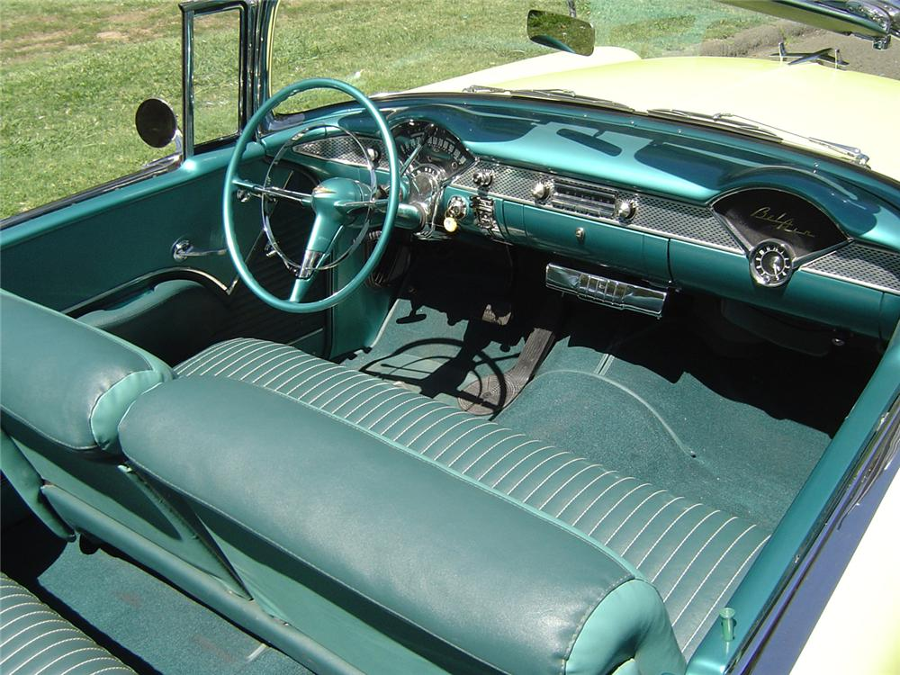 1955 CHEVROLET BEL AIR CONVERTIBLE - Interior - 43744
