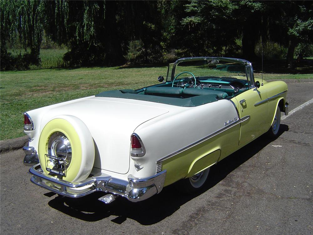 1955 CHEVROLET BEL AIR CONVERTIBLE - Rear 3/4 - 43744