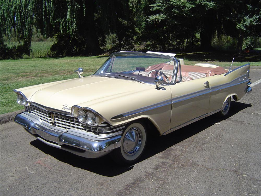 1959 PLYMOUTH SPORT FURY CONVERTIBLE - Front 3/4 - 43745
