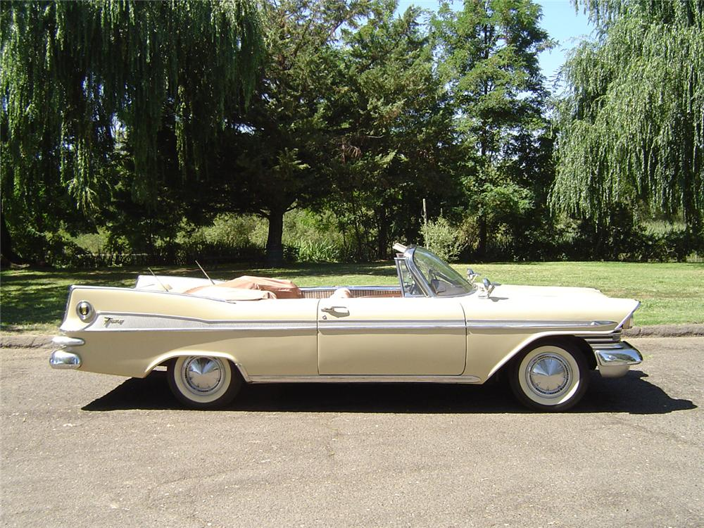 1959 PLYMOUTH SPORT FURY CONVERTIBLE - Side Profile - 43745