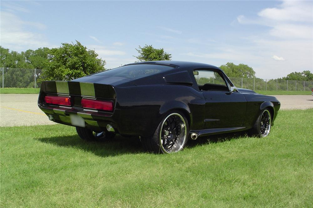 1968 FORD MUSTANG CUSTOM FASTBACK - Rear 3/4 - 43750