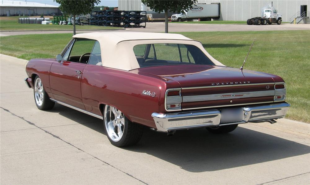 1964 CHEVROLET MALIBU CUSTOM CONVERTIBLE - Rear 3/4 - 43754