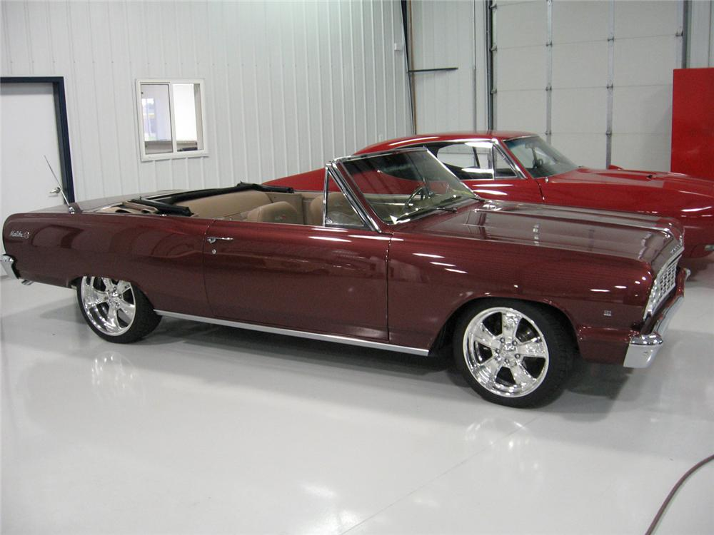 1964 CHEVROLET MALIBU CUSTOM CONVERTIBLE - Side Profile - 43754