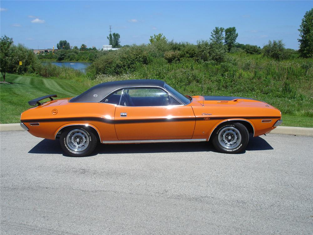 1970 DODGE CHALLENGER R/T 2 DOOR HARDTOP - Side Profile - 43770