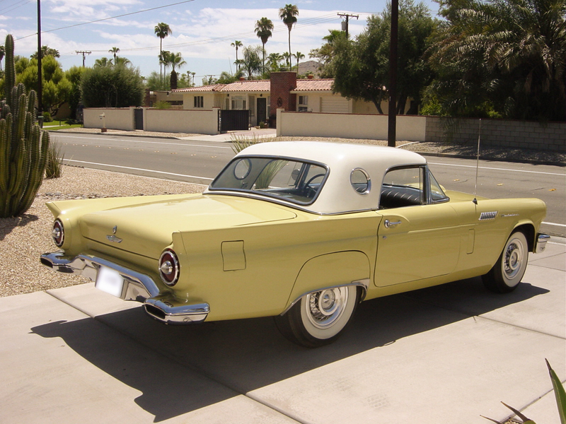 1957 FORD THUNDERBIRD CONVERTIBLE - Front 3/4 - 43805