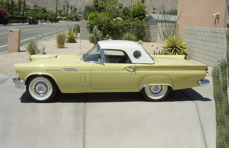1957 FORD THUNDERBIRD CONVERTIBLE - Side Profile - 43805
