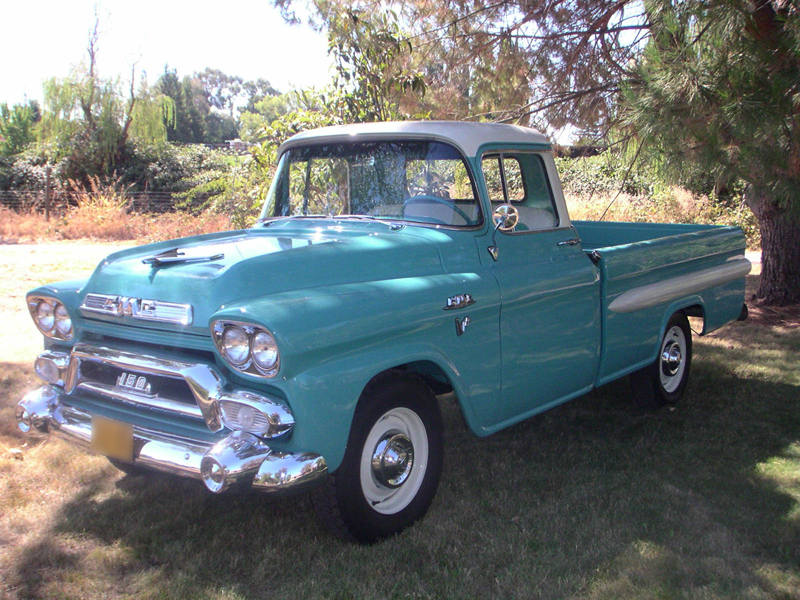 1958 Gmc 150 Fleetside Long Bed Front 3 4 43811