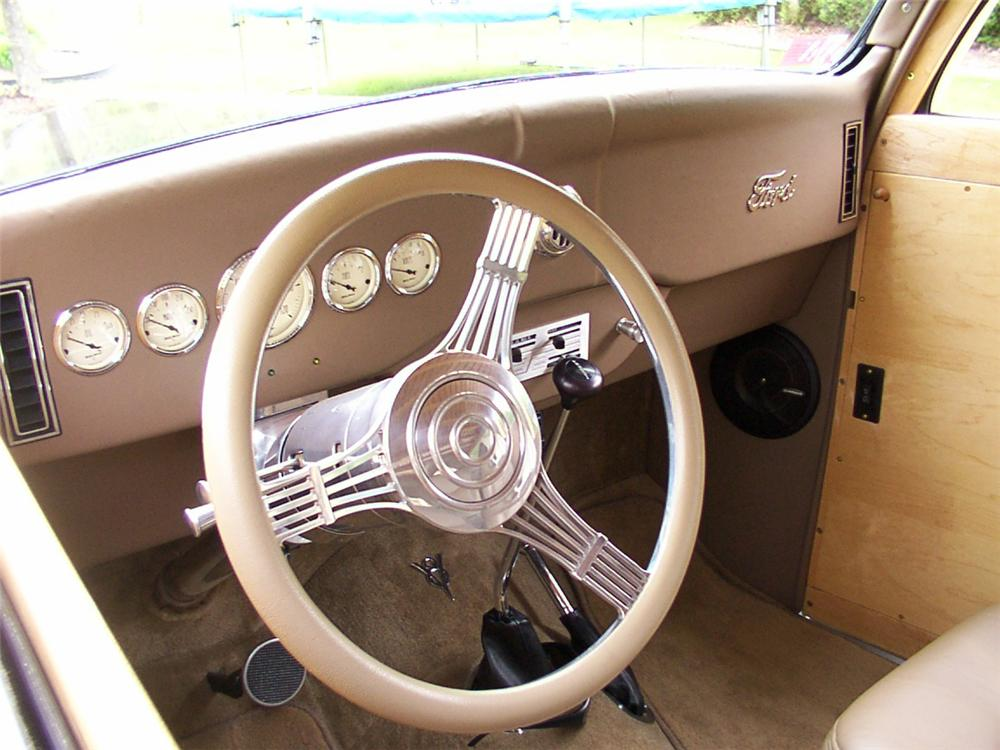 1936 FORD WOODY WAGON - Interior - 43819