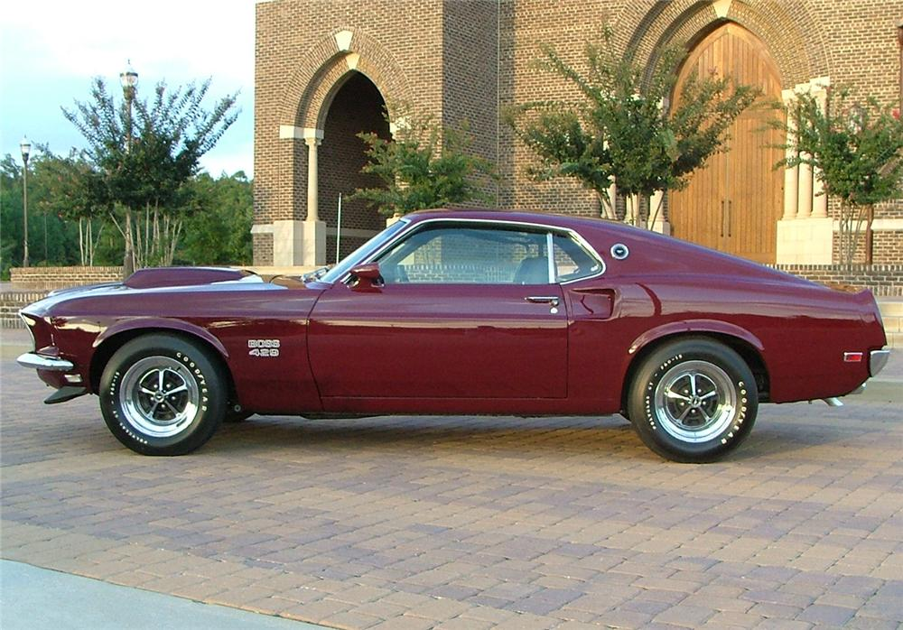 1969 ford mustang boss 429 fastback side profile 43823. Cars Review. Best American Auto & Cars Review