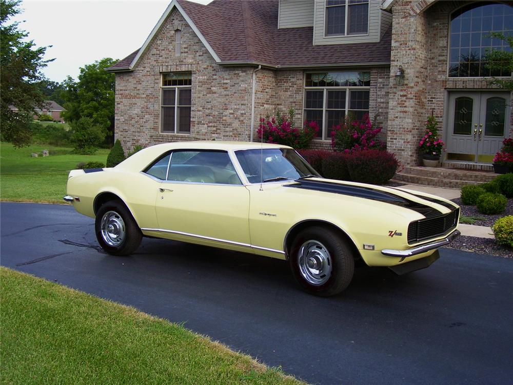 1968 CHEVROLET CAMARO Z/28 RS COUPE - Side Profile - 43834