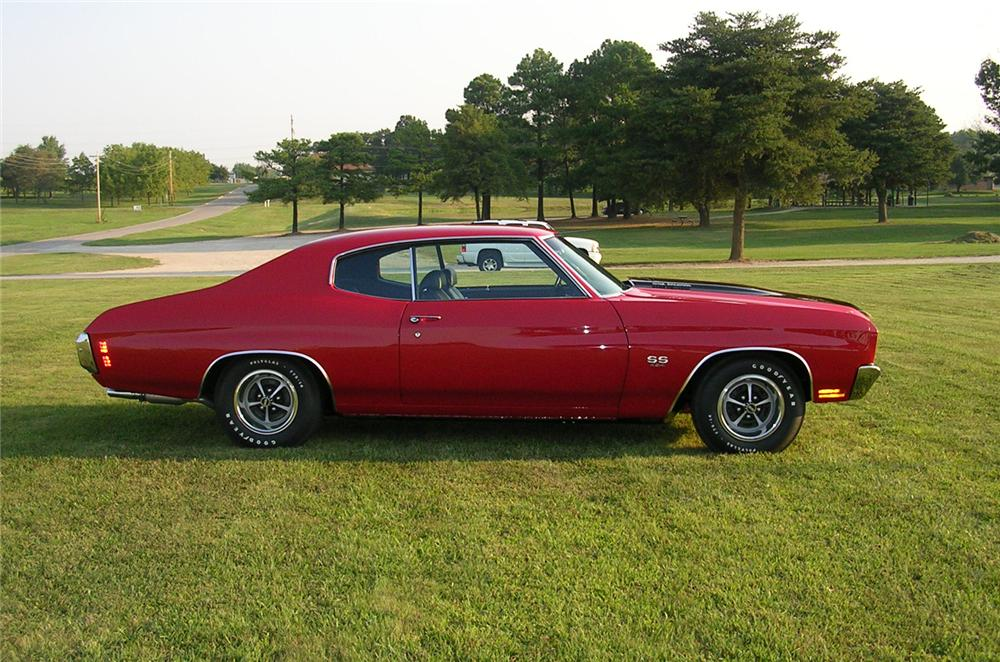 1970 CHEVROLET CHEVELLE LS6 SS 2 DOOR HARDTOP - Side Profile - 43836