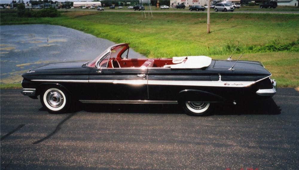 1961 CHEVROLET IMPALA CUSTOM CONVERTIBLE - Side Profile - 43846