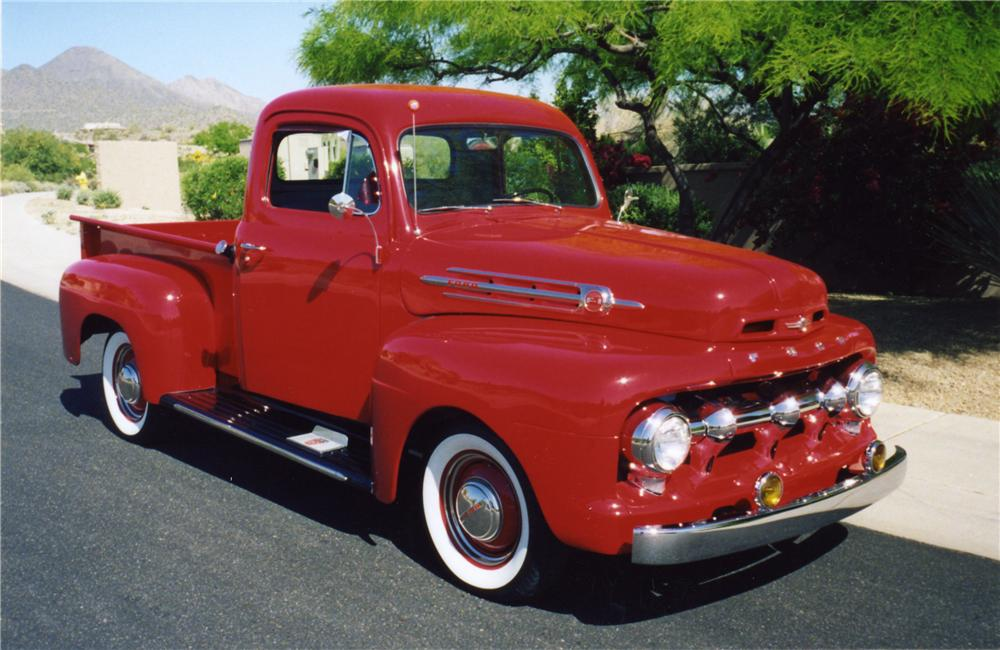 1952 FORD F-100 PICKUP - Front 3/4 - 43848