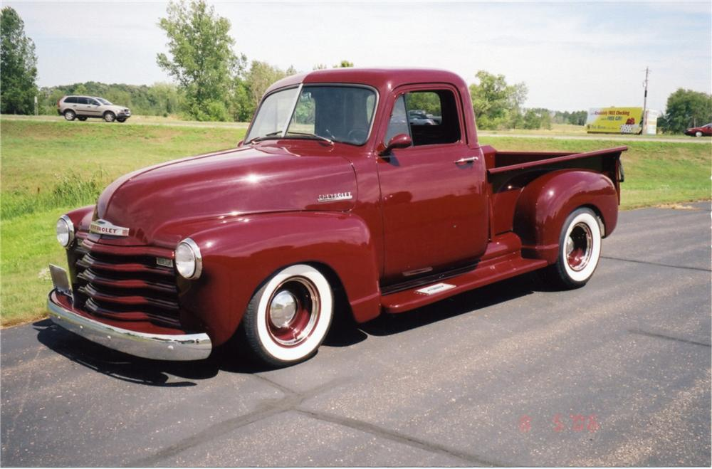 1952 CHEVROLET 3100 CUSTOM PICKUP - Front 3/4 - 43850