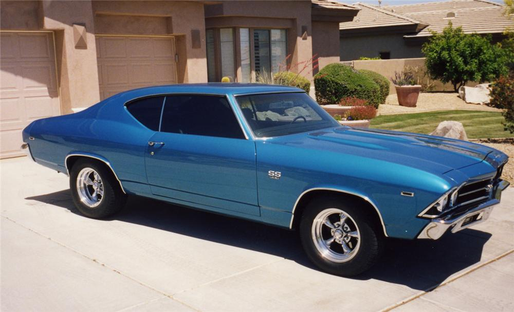 1969 CHEVROLET CHEVELLE SS 396 2 DOOR HARDTOP - Side Profile - 43853