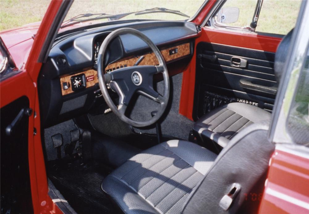 1979 VOLKSWAGEN BEETLE CONVERTIBLE - Interior - 43854
