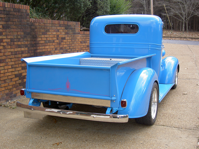 1937 CHEVROLET MASTER CUSTOM PICKUP - Rear 3/4 - 43864