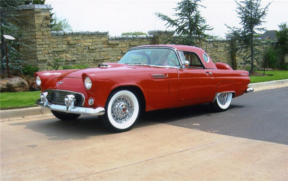 1956 FORD THUNDERBIRD CONVERTIBLE - Front 3/4 - 43870