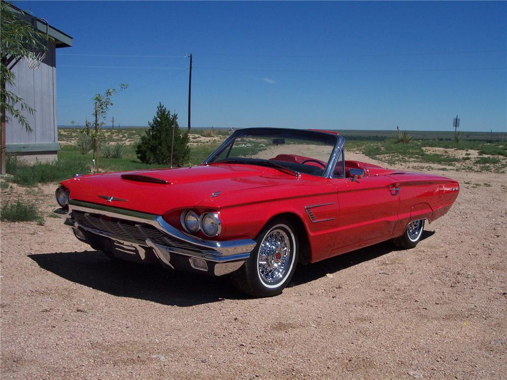 1965 FORD THUNDERBIRD CONVERTIBLE - Front 3/4 - 43889