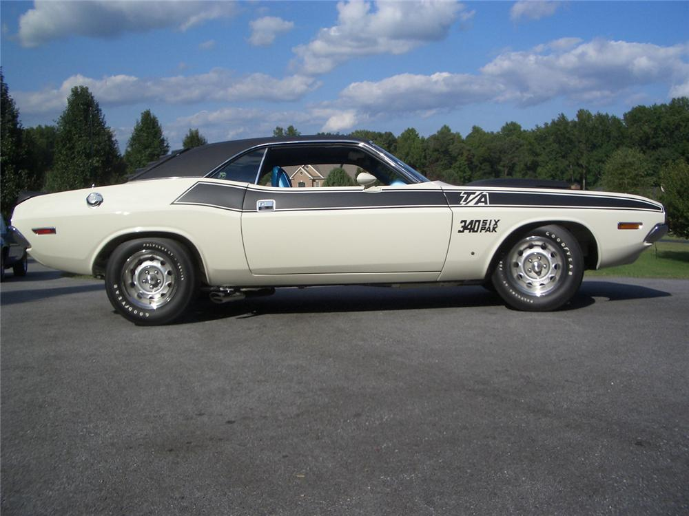 1970 DODGE CHALLENGER 2 DOOR HARDTOP - Side Profile - 43891