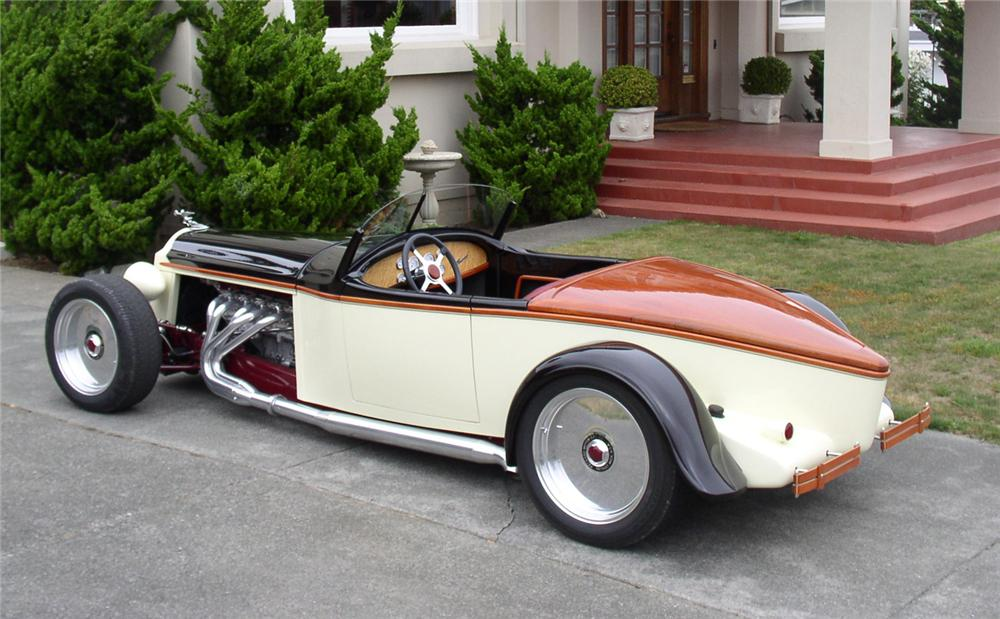 1926 PACKARD CUSTOM BOATTAIL SPEEDSTER - Rear 3/4 - 43897