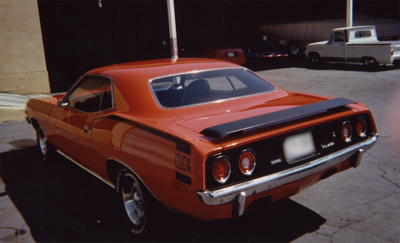 1972 PLYMOUTH CUDA 2 DOOR HARDTOP - Rear 3/4 - 43903