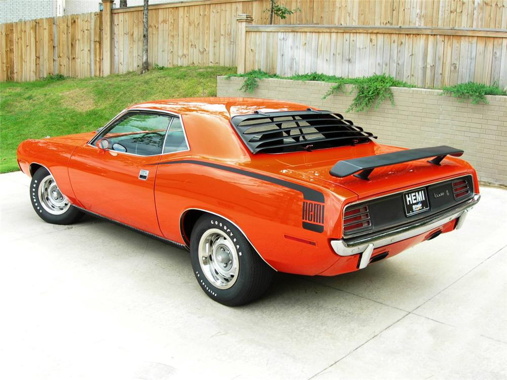 1970 PLYMOUTH HEMI CUDA COUPE - Rear 3/4 - 43905
