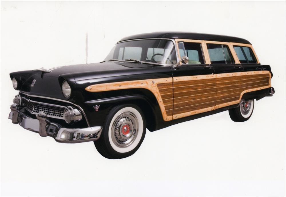 1955 FORD COUNTRY SQUIRE WAGON - Front 3/4 - 43914