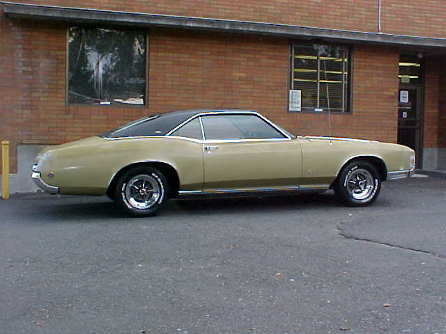 1967 BUICK RIVIERA 2 DOOR HARDTOP - Side Profile - 43948