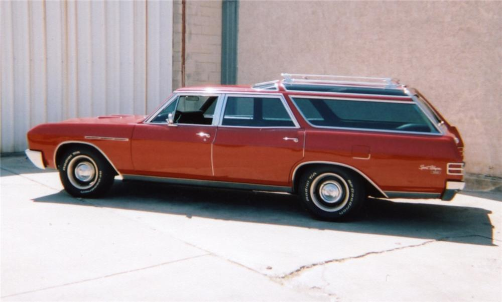 1967 BUICK CUSTOM SPORT WAGON - Side Profile - 43953