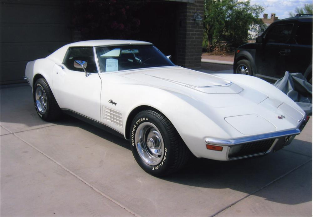 1971 CHEVROLET CORVETTE COUPE - Front 3/4 - 43961