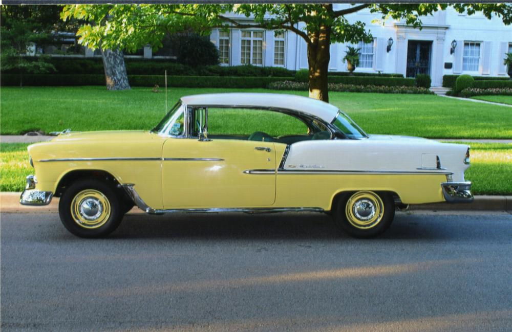 1955 CHEVROLET BEL AIR 2 DOOR HARDTOP - Side Profile - 43962