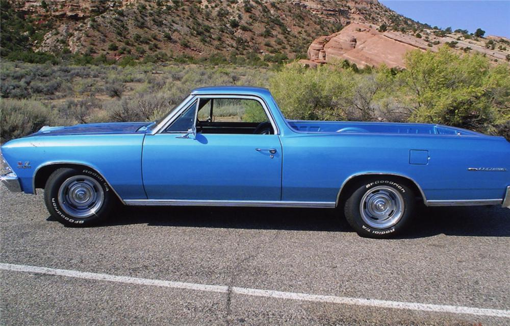 1966 CHEVROLET EL CAMINO PICKUP - Side Profile - 43965
