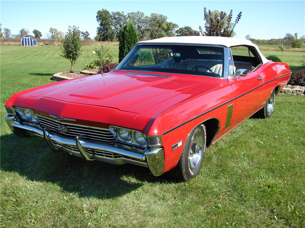 1968 CHEVROLET IMPALA SS CONVERTIBLE - Front 3/4 - 43968