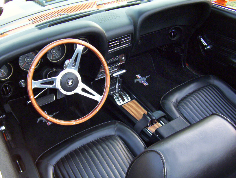 1969 ford mustang custom convertible interior 43976