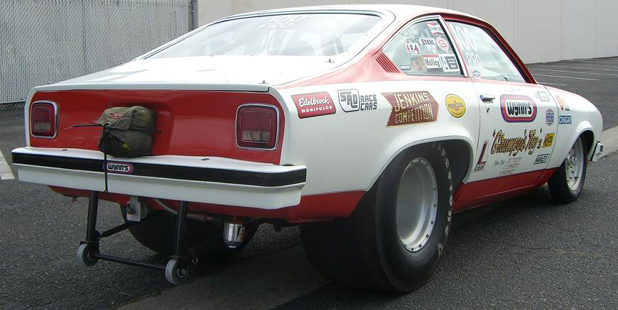 "1974 CHEVROLET VEGA PRO-STOCK ""GRUMPY"" BILL JENKINS - Rear 3/4 - 43995"