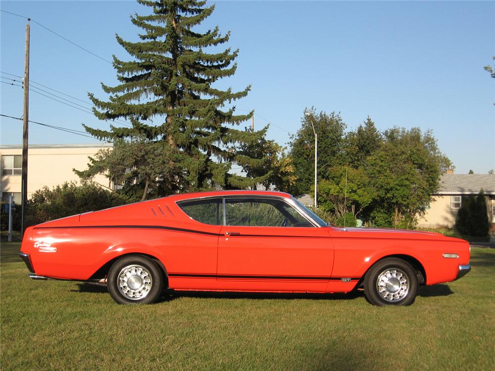 1968 MERCURY CYCLONE GT 2 DOOR HARDTOP - Side Profile - 44002